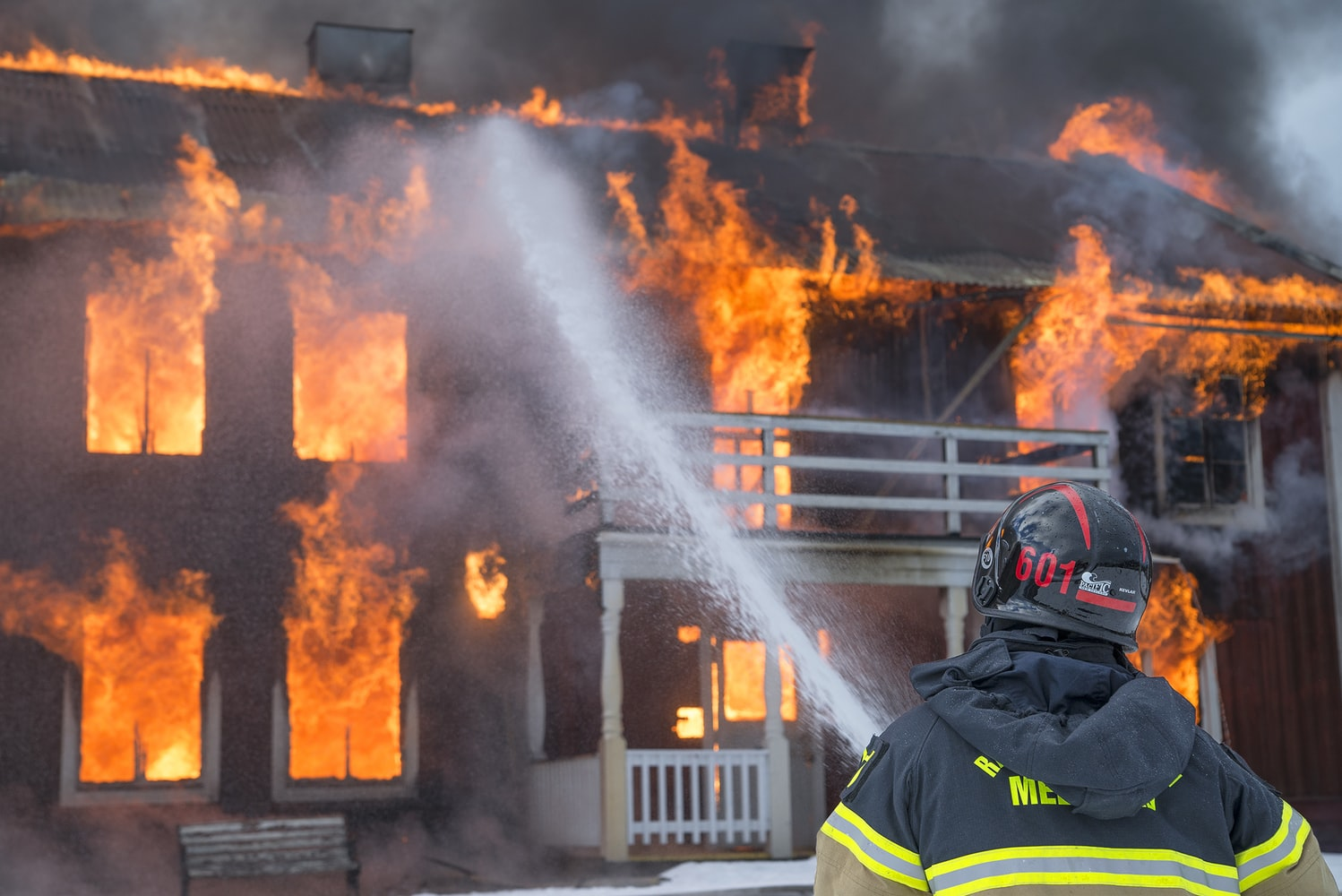 Firefighter who puts out house fire took fire safety classes online with LMS eLearning platform