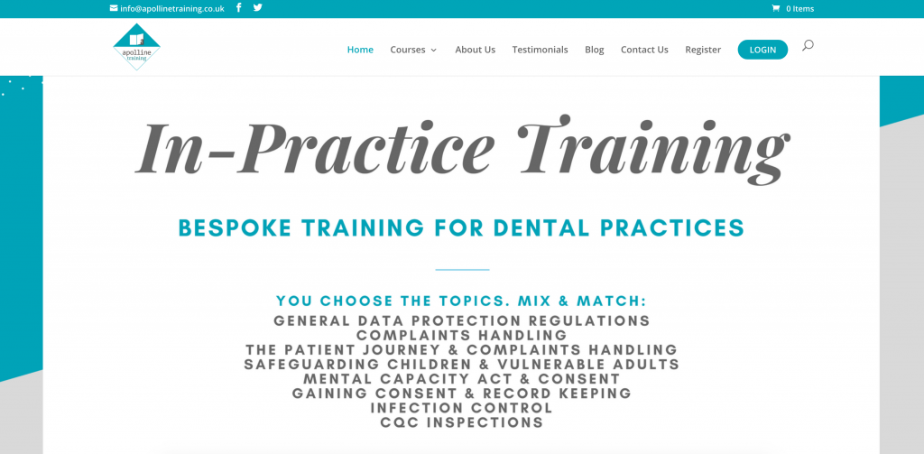 healthcare medical company website that sells CME continuing medical education online courses with LMS eLearning platform