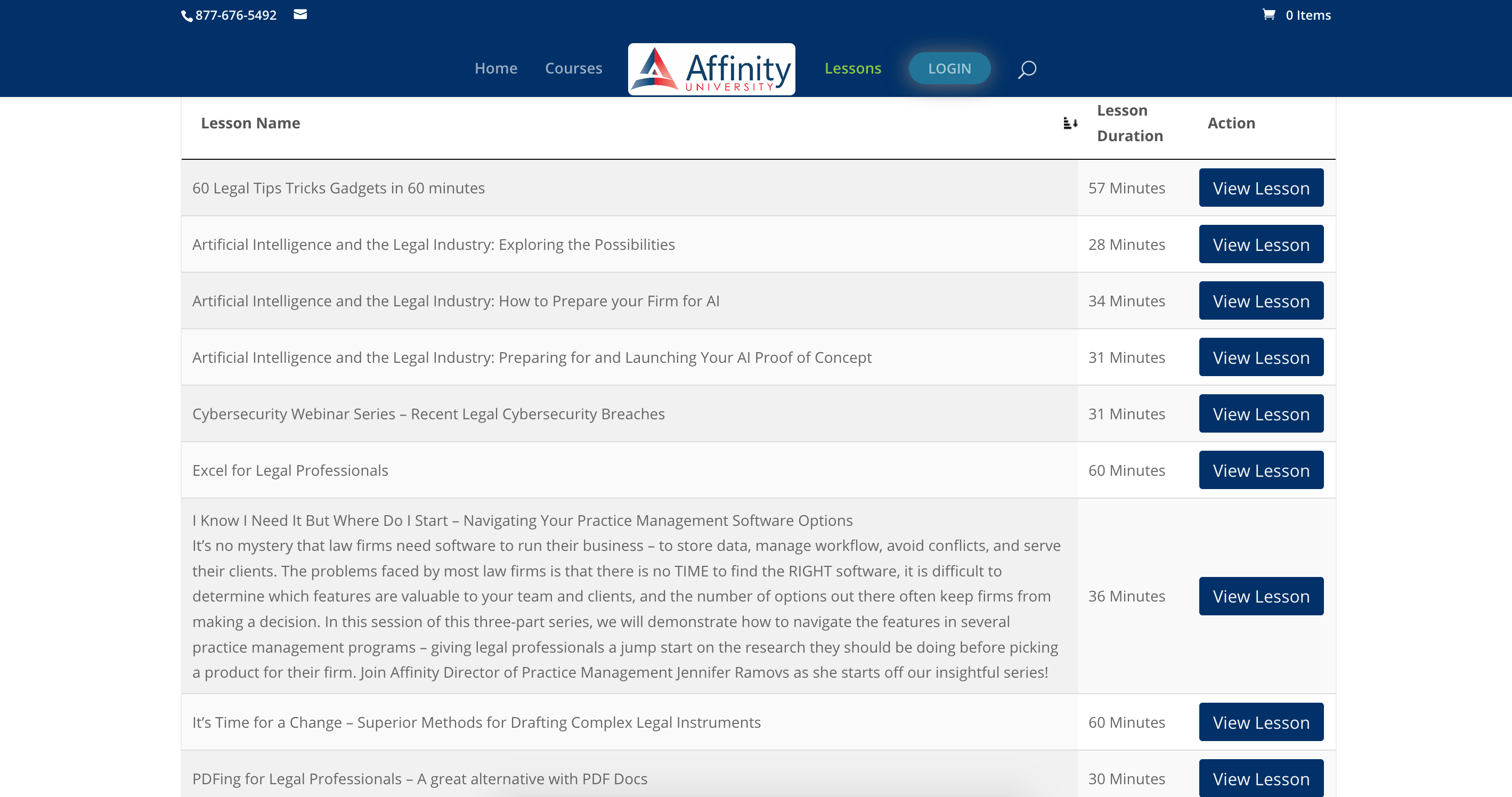Affinity University continuing education CLE MCLE online courses with custom built LMS e-learning eLearning platform