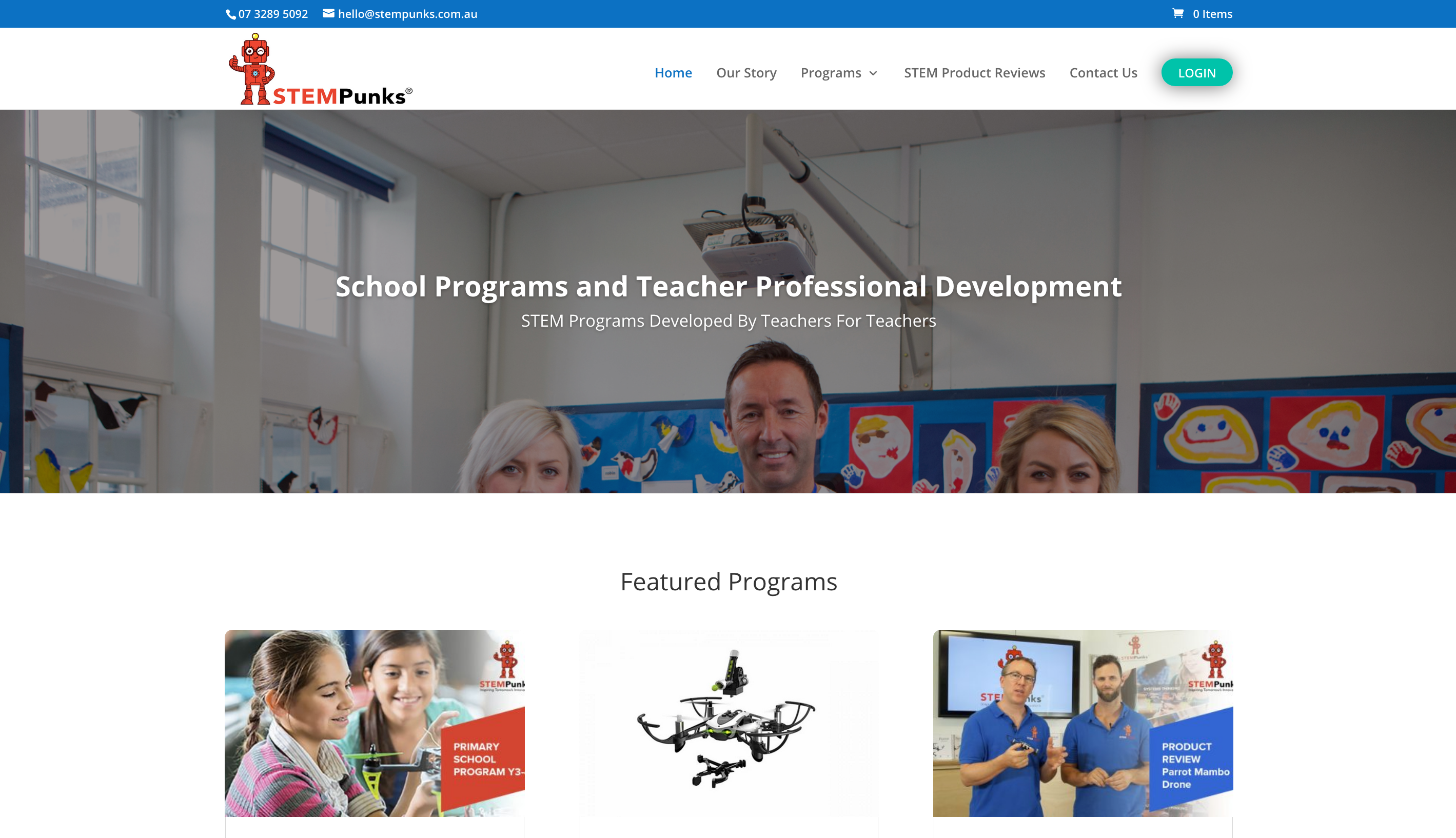 STEMPunks STEM teacher professional development online courses with custom built LMS e-learning eLearning platform