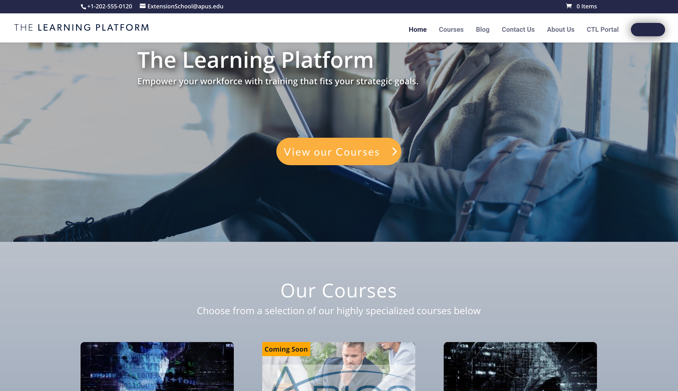 APUS American Public University Center for Teaching and Learning online courses LMS e-Learning elearning platform