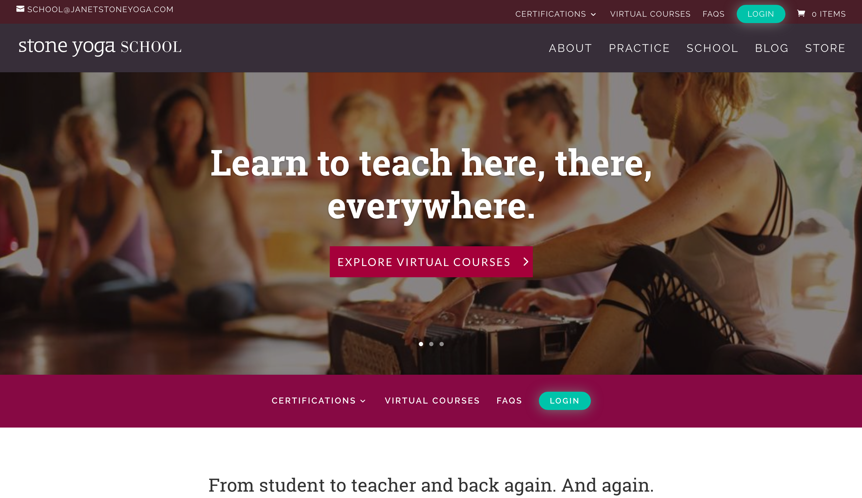 yoga website fitness wellness selling online courses with LMS eLearning platform