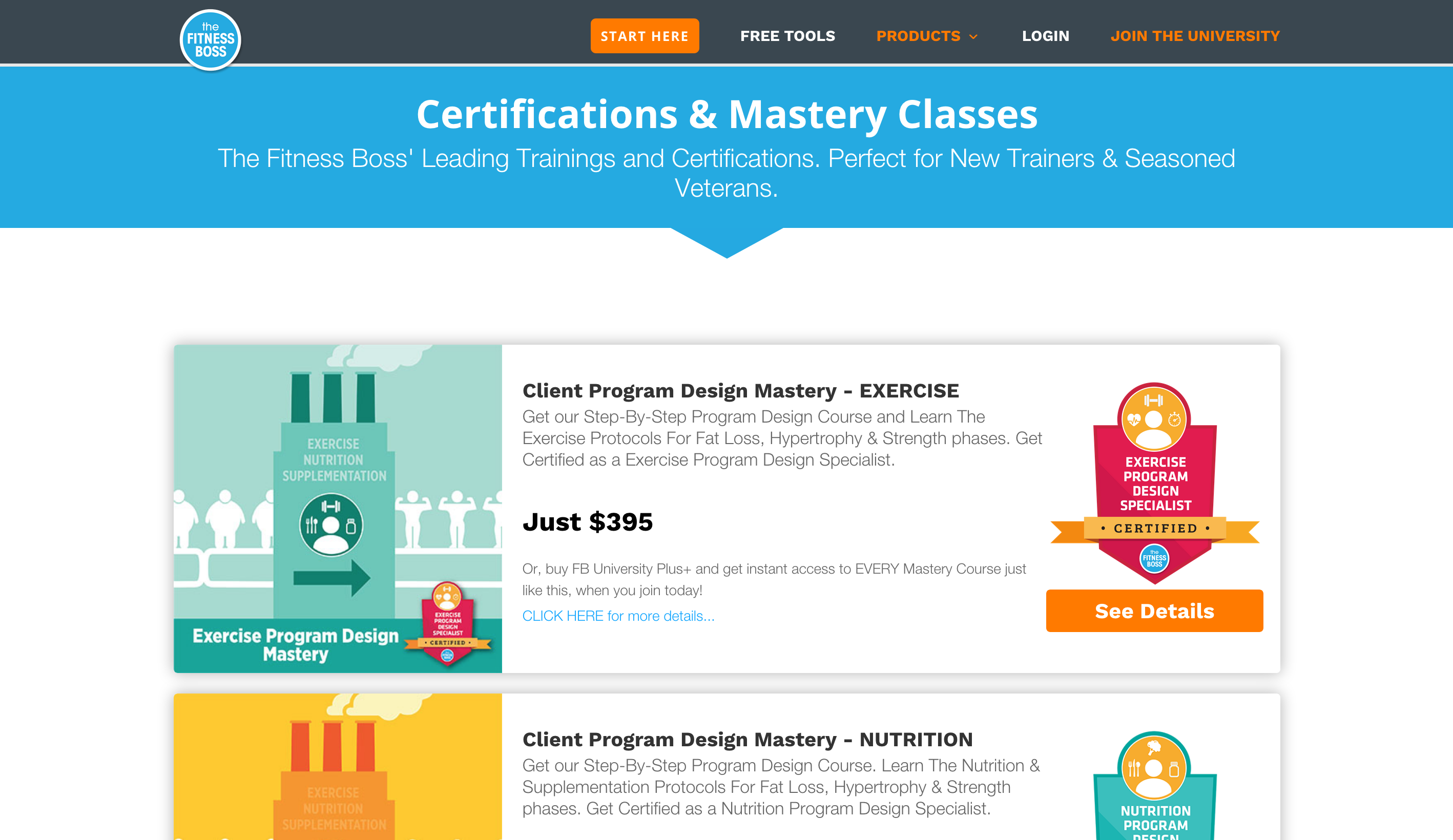 fitness wellness website selling online courses with LMS eLearning platform