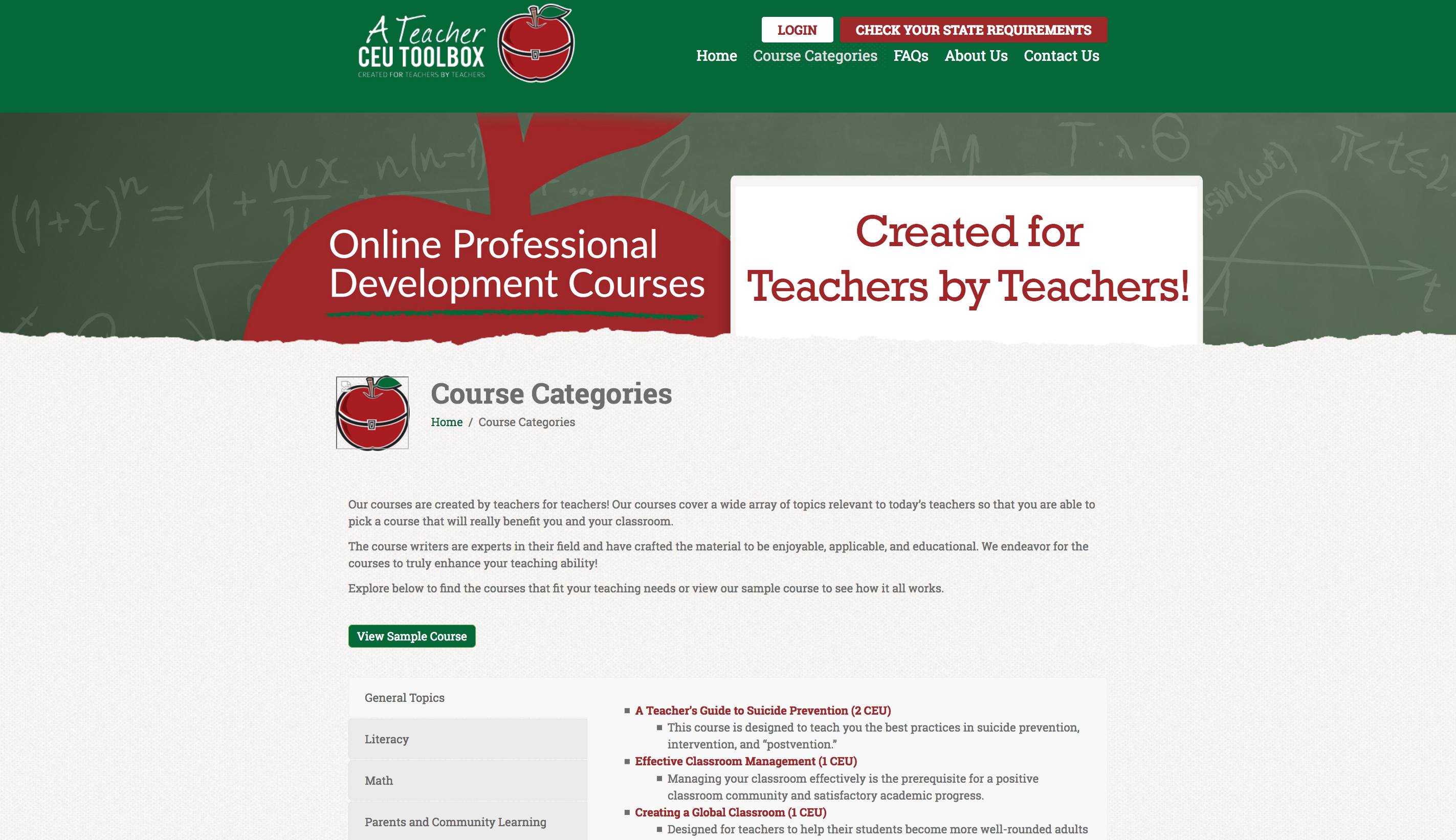 A Teacher CEU Toolbox teacher continuing education online courses with custom built LMS e-learning eLearning platform