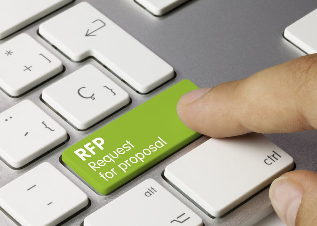 RFP Request for Proposal keyboard button LMS shopping how to write a great RFP need a new LMS eLearning platform