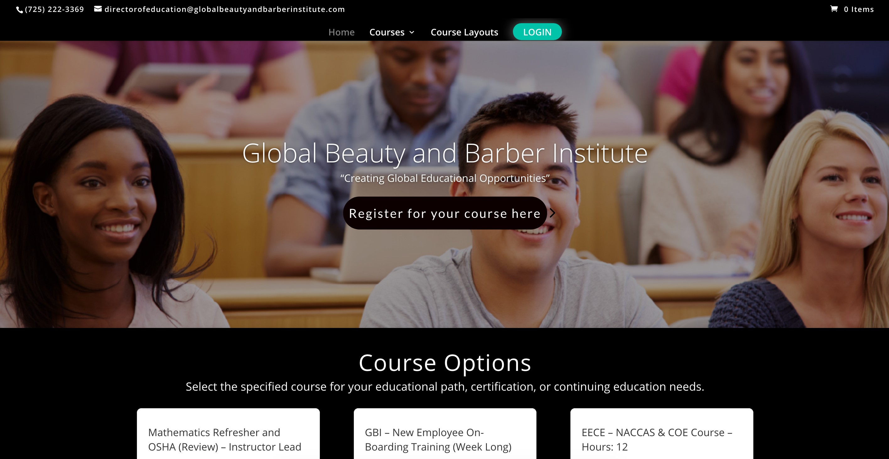 esthetic aesthetician cosmetology beauty barber training website selling online courses with LMS eLearning platform