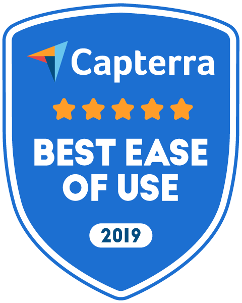 Capterra 2019 best ease of use!