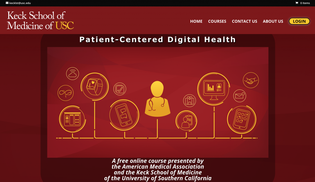 Keck School USC University of South California medical healthcare CME online course LMS eLearning e-Learning platform
